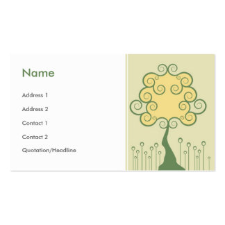 Whimsical Tree Business Card