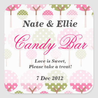 Whimsical Tree Candy Bar Sticker