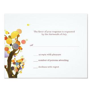 Whimsical Trees Botanical Wedding RSVP Card