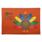 Whimsical Turkey Thanksgiving Placemats