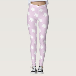Whimsical Unicorn Head Legging in Pastel Purple