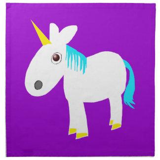 whimsical unicorn napkin