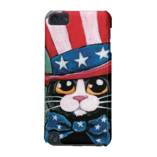 Whimsical USA Tuxedo Cat Illustration iPod Touch (5th Generation) Covers
