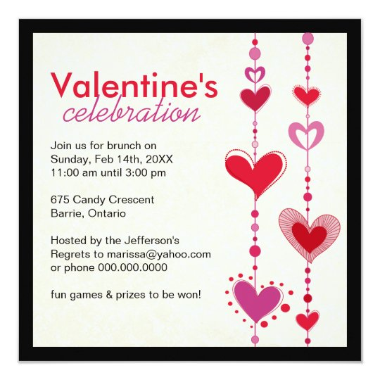Whimsical Valentine's Day Party Invitation