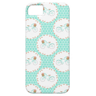 Whimsical Vintage Bicycle Pattern iPhone 5 Cases