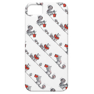 Whimsical Vintage Squirrels Reading Books iPhone 5 Covers