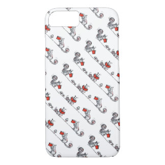 Whimsical Vintage Squirrels Reading Books iPhone 7 Case
