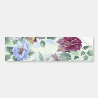 Whimsical Vintage Victorian Roses Bumper Sticker