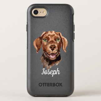 Whimsical Watercolor Chocolate Labrador Retriever OtterBox Symmetry iPhone 8/7 Case