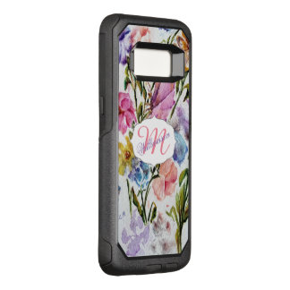 WHIMSICAL WATERCOLOR FLOWERS OtterBox COMMUTER SAMSUNG GALAXY S8 CASE