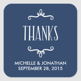 Whimsical Wedding Favor Square Sticker