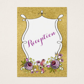 Whimsical Wedding Insert Card | FAUX Gold Foil