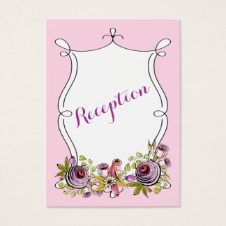 Whimsical Wedding Insert Card | Watercolor Florals