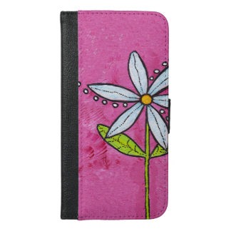 Whimsical White Daisy Flower Pink