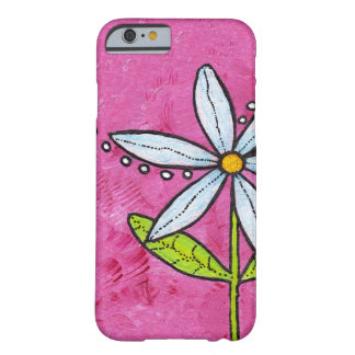 Whimsical White Daisy Flower Pink Barely There iPhone 6 Case