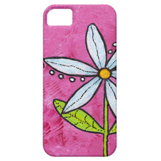 Whimsical White Daisy Flower Pink iPhone 5 Covers
