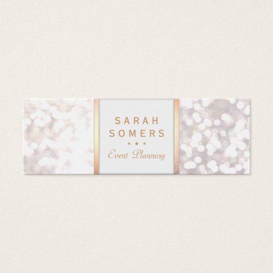 Whimsical White Glitter Bokeh Elegant Gold Frame Mini