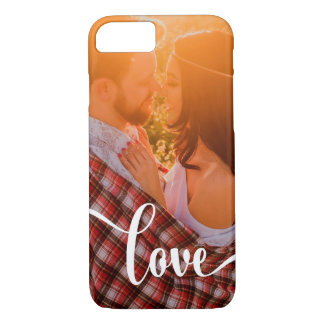 Whimsical White Overlay | Love with Photo iPhone 8/7 Case