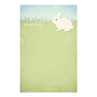 Whimsical White Rabbit Stationery