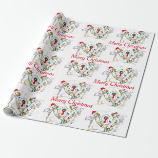 Whimsical Wildlife Christmas Puffin Wrapping Paper