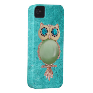 Whimsical Winter Owl Jewel iPhone 4 Case