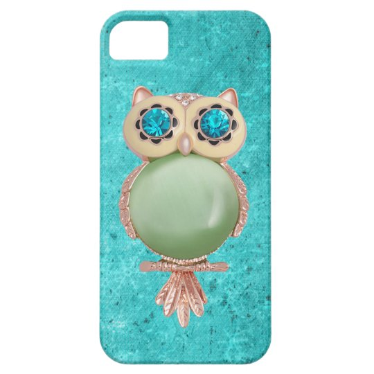Whimsical Winter Printed Image Owl Jewel Barely There iPhone 5 Case