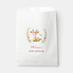 Whimsical Woodland Deer Girl Baby Shower Sprinkle Favour Bags