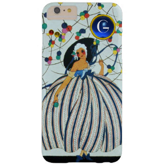 WHIMSICAL YOUNG GIRL Beauty Fashion Blue Monogram Barely There iPhone 6 Plus Case