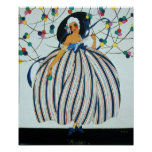 WHIMSICAL YOUNG GIRL BEAUTY FASHION COSTUME DESIGN POSTER