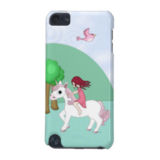 Whimsical Young Girl Riding upon a Unicorn iPod Touch 5G Case