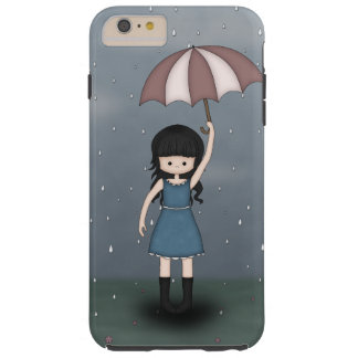 Whimsical Young Girl Standing in the Rain Tough iPhone 6 Plus Case
