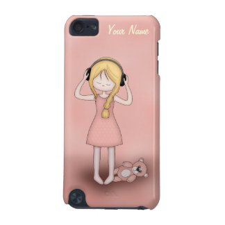 Whimsical Young Girl with Music Headphones iPod Touch (5th Generation) Case