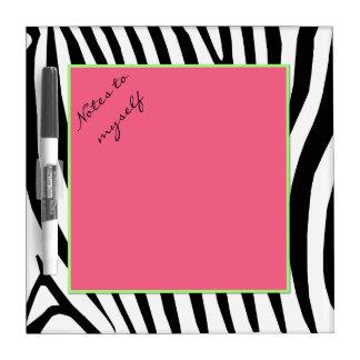 Whimsical Zebra Print Dry Erase Board