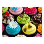 Whimsically Decorated Cupcakes Postcard