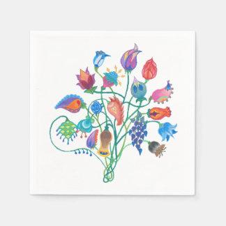 Whimsy Bouquet Napkins Disposable Serviette