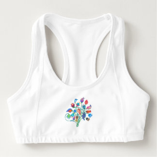 Whimsy Bouquet & Vines Sports Bra