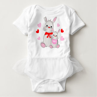 Whimsy Bunny Rabbits Mother & Baby Baby Bodysuit