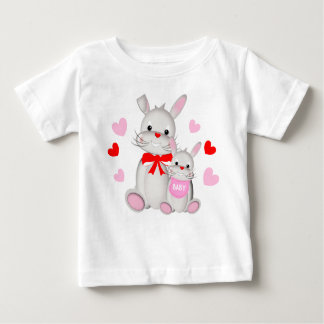 Whimsy Bunny Rabbits Mother & Baby Baby T-Shirt