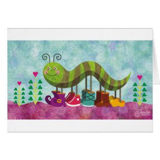 whimsy caterpillar card