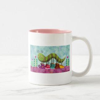 whimsy caterpillar mug