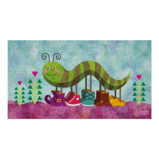 whimsy caterpillar posters