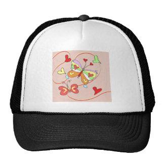 Whimsy Flower Butterflies Cap