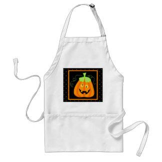 Whimsy Halloween Pumpkin on Black Standard Apron