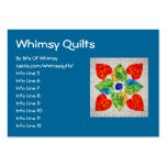 Whimsy Hearts Quilt - Block #1 Business Card Templates
