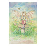 Whimsy In Pink Sweet Fairy Poster
