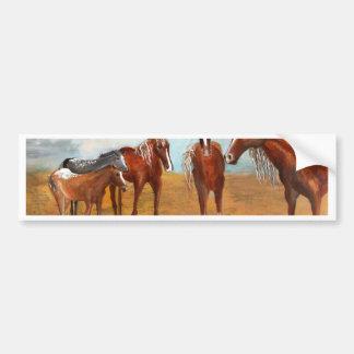 Whimsy Mustangs Bumper Sticker