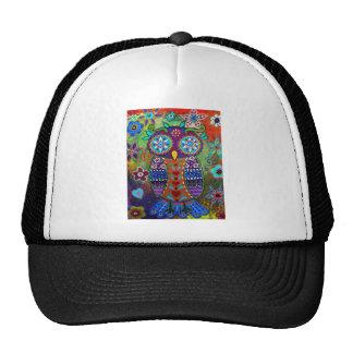 whimsy owl trucker hat