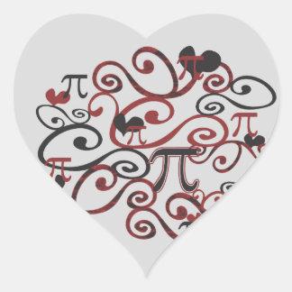 Whimsy Pi Heart Sticker