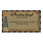 Whimsy Primitive Angel Country Business Card