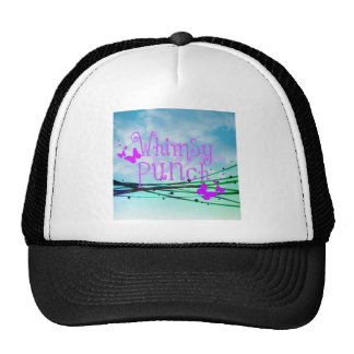 Whimsy Punch with Butterflies Apparel Cap